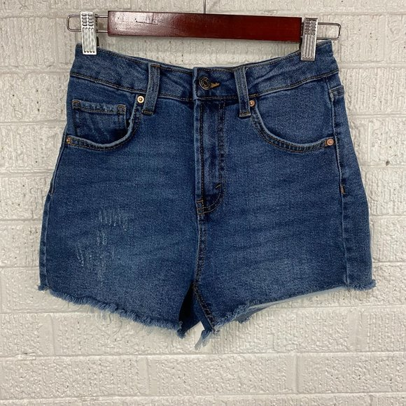 Wild Fable highest rise mom denim shorts distressed